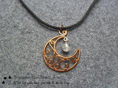 star, moon pendant, crescent moon