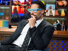 True Blood star and La Bare director Joe Manganiello sports some fun shades during an appearance on Bravo's Watch What Happens Live on Monday in New York City.