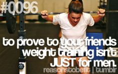 Hit those weights