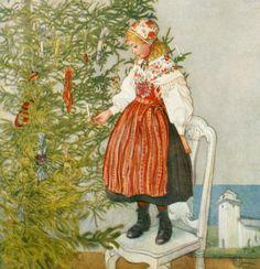 Carl Larsson - Christmas Tree Confetti
