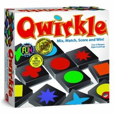Qwirkle Board Game (736970320168) 10.75 in L x 10.75 in W x 2.85 in H Mindware's Best-Selling Game of All Time
