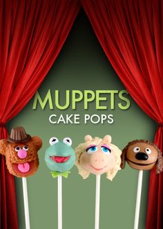 Muppets Cake Pops from Bakerella!