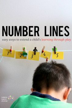 Math Games with Number Lines. Super short and easy math games for introducing the number line. via Lessons Learnt Journal.