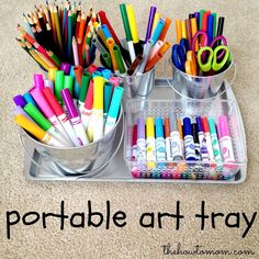 The How To Mom: Portable Art Tray (magnetic!)