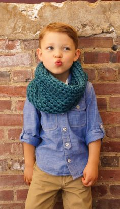 This boy, this scarf! Love.