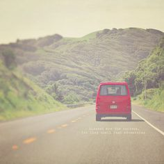 Red Travel Van Photo