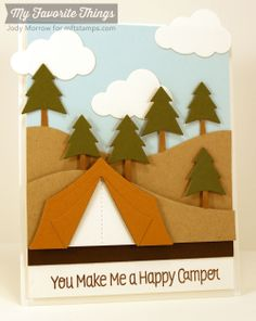 Roughing It, Campy Tree Lines Die-namics, Roughing It Die-namics - Jody Morrow #mftstamps