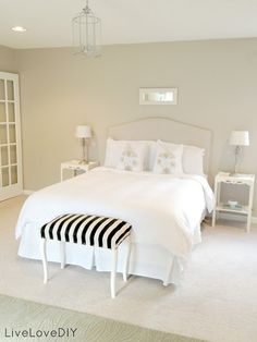 LiveLoveDIY: Bedroom Ideas: How To Decorate On a Budget