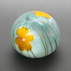 Side view of paperweight by Steve Smyers