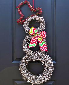 Snowman Wreath  Christmas Wreath  Snowmen by EverBloomingOriginal, $79.00
