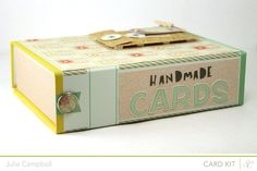 Repurpose a #ProjectLife box to create a hnadmade card gift set @StudioCalico