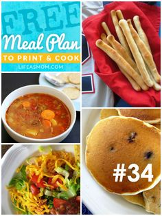 Weekly Meal Plan with Grocery List #34 (Features Pantry Staples) | Life as MOM - a meal plan for the week that includes our favorite debt-busting meals, using pantry staple ingredients.