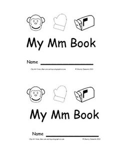 Emergent Reader: My Mm Book (sight words: look, at, the) - Great for guided reading with pages for differentiation! $
