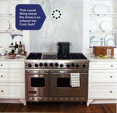 hous kitchen, stove, kitchens, idea, favorit plate, plate racks, fans, linda woodrum, kitchen exhaust fan