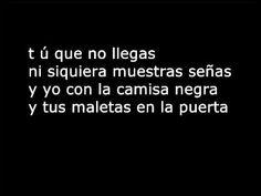 Juanes La Camisa Negra  Lyrics .wmv