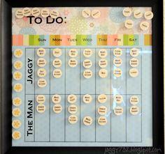 craft, adult chore chart, clean, organ, chore chart for adults, chorechart, chore charts for adults, grownup chore, diy