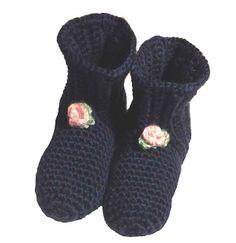 Easy Crocheted Slipper Booties (free pattern)