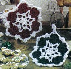 Red &   Green Snowflake Potholders