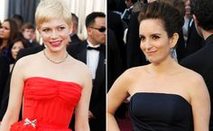 Michelle Williams and Tina Fey stealing the show at the 2012 Oscars