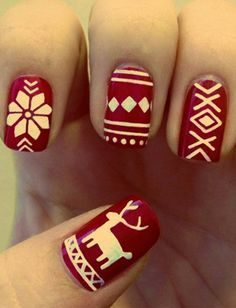 Nail Polish for the Holidays:  Alpine Sweater look