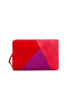 Zara patchwork Clutch Bag