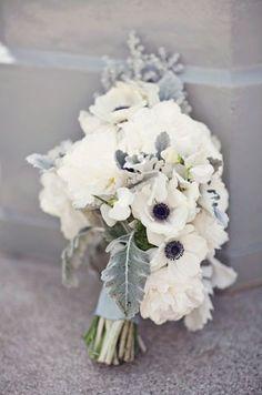 grey wedding bouquet