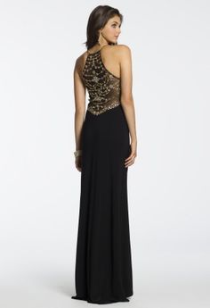 Long Jersey Illusion Back Dress from Camille La Vie and Group USA #homecomingdresses #homecoming