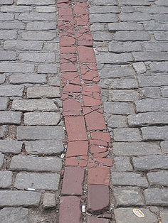 The Freedom Trail in Boston... Love the history, you follow the red bricks to find your destinations on the trail.