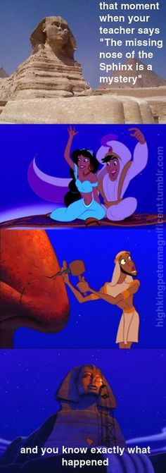 "haha true. Leave it to Disney to tell the ""true"" story"