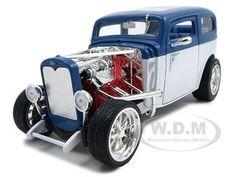1931 Ford Model A Custom Blue/white Custom Diecast Car Model 1/18 Die Cast Car By Yat Ming