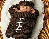 Knit Football Cocoon and Hat Pattern by DancingTurtle on Etsy