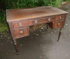 DESK Windsor Antique Writing Desk Original by poppycottage on Etsy, $450.00