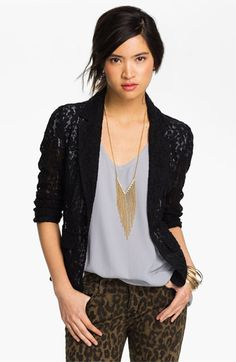 Frenchi® Lace Blazer (Juniors) available at #Nordstrom