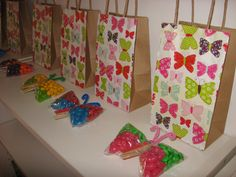 Butterfly party bags & Butterfly party favours