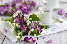 tea time, wedding bouquets, spring weddings, hand bouquet, violet, formal gardens, morning coffee, flower, pansi
