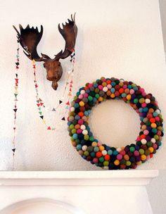 Wreath Idea: Felted Balls!