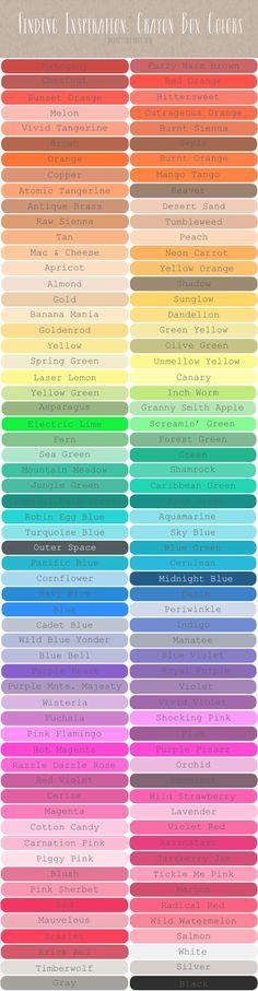 Finding Inspiration : Crayon Box Colors