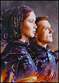 The Hunger Games - Katniss and Peeta by DavidDeb.deviantart.com