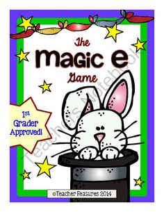 The Magic E Game from Teacher Features on TeachersNotebook.com -  (12 pages)  - Abracadabra! When your students add the Magic E to these words, they will make a new word. A fun game that your kiddos will ask to play! (12 pages)