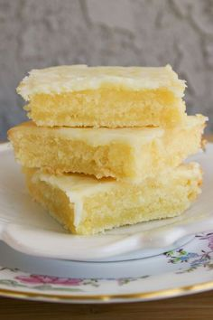 Lemon Bars, but the consistency of brownies