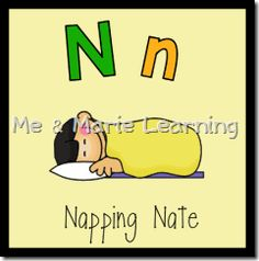 """Napping Nate"" Letter Nn Pack"