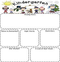 Fine Kindergarten Newsletter Templates Free Image - Resume Template ...