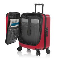 Victorinox Luggage Spectra 2.0 Dual-Access Global Carry-On. To get you through security checks quickly, it has a quick-access door for the most essential travel items such as your laptop, tickets and passport. - Whyrll.com