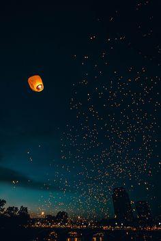 Lantern Festival in Center City, Grand Rapids, Michigan