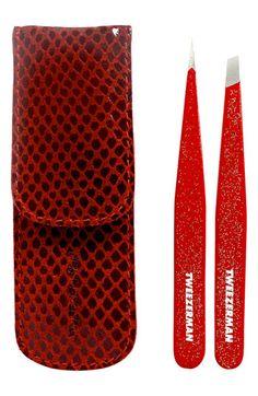 TWEEZERMAN 'Petite #Tweeze - Red Glitter' Set #Nordstrom #Holiday #Gift