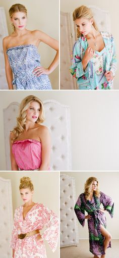so cute!  would be so fun to wear when getting hair/makeup done!