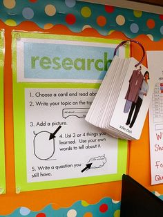 Use Target dollar section flashcards as a research activity for the work on writing center!