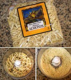 Make your own almond flour.