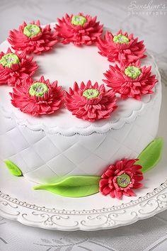 Gerbera+cake