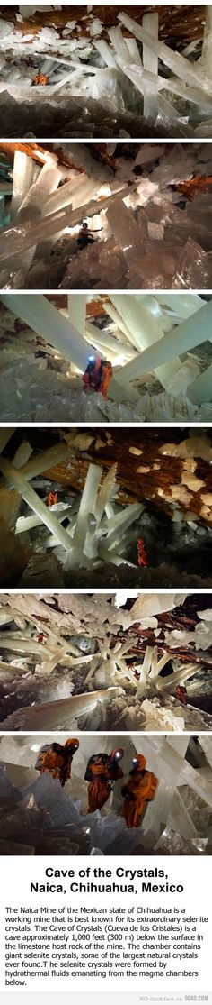 crystals, planets, chihuahuas, mexico, caves, natur, place, crystal mine, planet earth